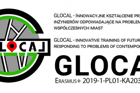 Logo Glocal, wielka litera G z narysowanymi ścieżkami sugerującymi drogi